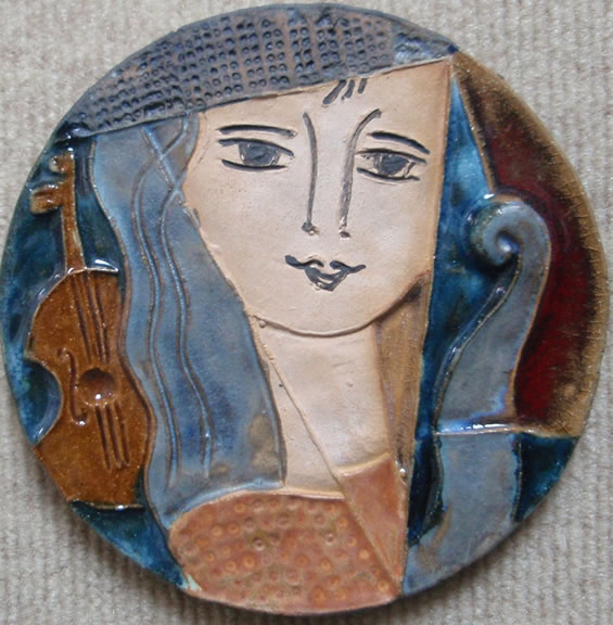 Lady with Stringed Instrument