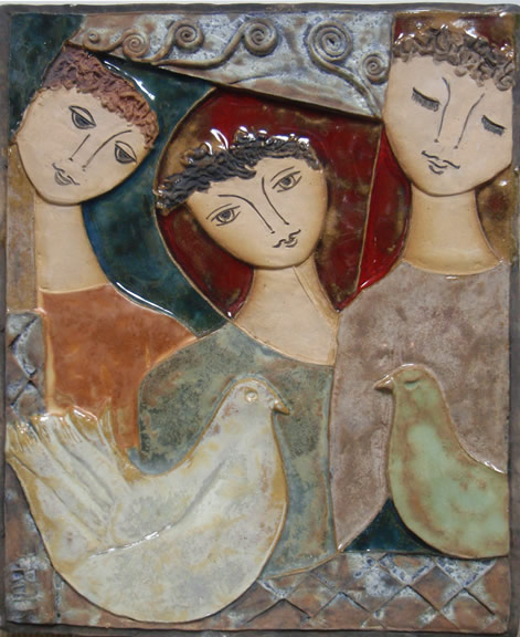 Three Figures and Two Doves