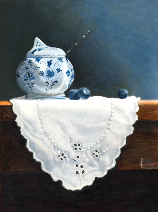 Delft                   with blueberries