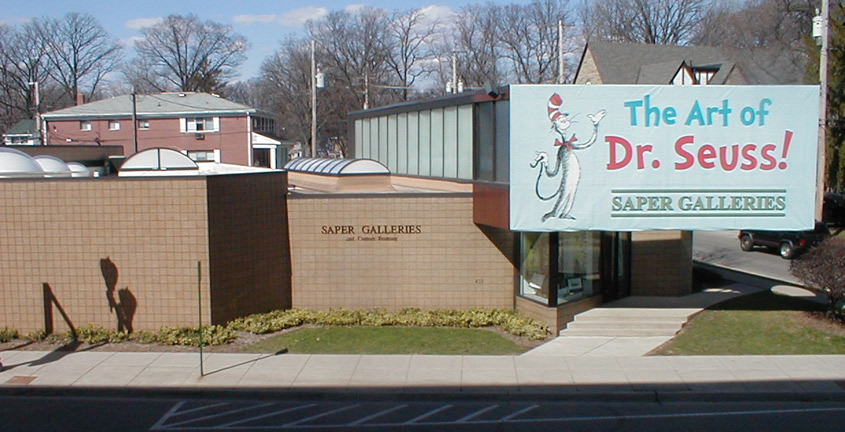 Saper                     Galleries Dr. Seuss banner