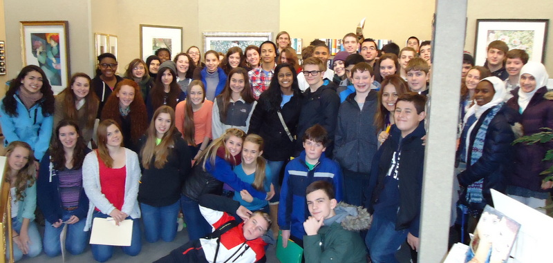 Mrs. York's Spanish class from                                   East Lansing High School